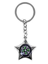 Personalized Engraved Gift Creative Star Shaped Compass Style Keychain