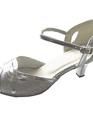 Индивидуальные Женские искрение Блеск танцевальная обувь для Латинской / Бальные Сандалии
