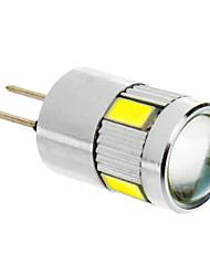olcso -G4 LED kukorica izzók T 6 led SMD 5730 Hideg fehér 280lm 5500-6500K DC 12V
