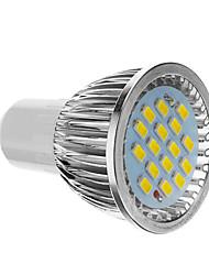 billige -4 W 350-400 lm GU10 LED-spotpærer 16 LED perler SMD 5730 Kjølig hvit 85-265 V / CE