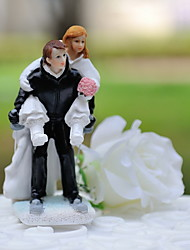 cheap -Cake Topper Classic Theme Classic Couple Sport Resin Wedding With Gift Box