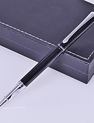 cheap -Personalized Gift Business Style Black Metal Engraved Ink Pen