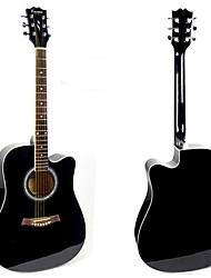 """Недорогие -41 """"acousitc пакет гитара фанера-ель черный лак"""