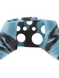preiswerte -Silikon Skin für XBOX ONE (Blau + Schwarz)