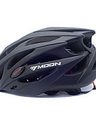 cheap -MOON Adults Bike Helmet 25 Vents Impact Resistant EPS, PC Sports Road Cycling / Cycling / Bike / Mountain Bike / MTB - Black Men's / Women's