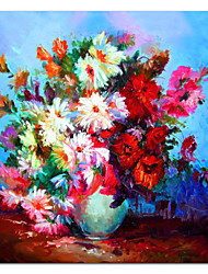 cheap -Hand Painted Oil Painting Still Life Gorgeous Petals with Stretched Frame