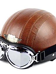 Недорогие -высококачественный мотоцикл половина шлем с таращить глаза