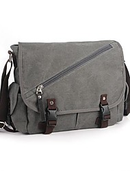cheap -Men Women Bags Canvas Shoulder Bag Buttons for Casual Spring All Seasons Black Gray Brown Cream Khaki