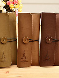 cheap -Eiffel Tower Pattern Cashmere Leather Card Holder Case(Random Color)