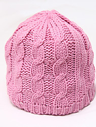 Chunyazi Casual Warm Solid Color Hat(Pink)