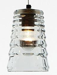 pingente de cristal, uma luz, moderno galvanoplastia vidro tubo