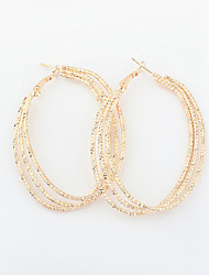 cheap -Women's Drop Earrings Hoop Earrings - Vintage Victorian European Gold Silver Circle Earrings For