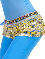 cheap -Belly Dance Hip Scarves Women's Training Polyester Beading / Coin Hip Scarf