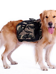 cheap -Dog Backpack Camouflage Green Outdoor Travel Hiking Camping Training Bag for Big Dogs