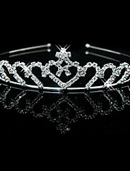 cheap -Rhinestone Headbands Headwear with Floral 1pc Wedding Special Occasion Headpiece