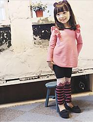 Ensemble de Vêtements Fille de Couleur Pleine Mélange de Coton Hiver