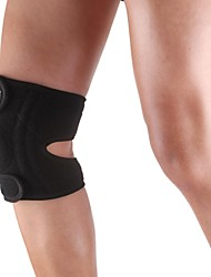 cheap -Silicone Sports Knee Patella 4 spring Support Brace Cap Wrap Protector Pad - Free Size