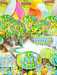 abordables -Anniversaire Fête de naissance Parti Vaisselle - Klaxons Chapeaux Lots d'Articles pour Table Papier de haute qualité Thème jardin
