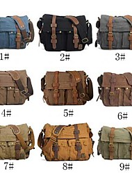 billige -Herre Tasker Lærred / Læder Skoletaske for Afslappet 7# / 8# / 9#