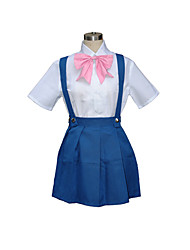 povoljno -Inspirirana Cosplay Rika Furude Video igra Cosplay nošnje Cosplay Suits School Uniforms Kolaž Kratkih rukava Shirt Haljina Luk
