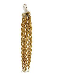 economico -20inch 1pcs loop micro anelli perline capovolto le estensioni dei capelli ricci più luce colori 100s / 0.5g pake / s