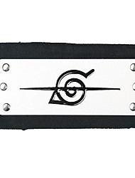 Jewelry / Headpiece Inspired by Naruto Cosplay Anime Cosplay Accessories Headband Black / Silver Alloy Male
