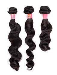 Недорогие -16 18 20 дюймы Великие 5А бразильские Девы человеческих волос Природа Черный цвет свободная волна Наращивание волос