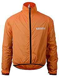 cheap -MOON Men's / Women's Cycling Jacket Bike Jacket / Top Quick Dry, Windproof Solid Colored Orange / Yellow Bike Wear