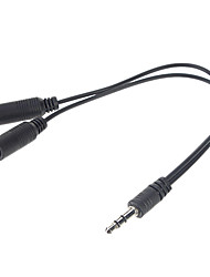 cheap -3.5mm Audio Jack Splitter (Black)