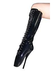 Women's Spring Winter Fashion Boots Leatherette Party & Evening Stiletto Heel Black