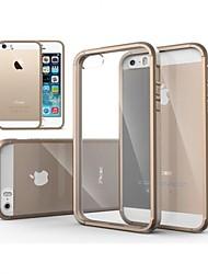Недорогие -Кейс для Назначение iPhone 5 Кейс для iPhone 5 Прозрачный Кейс на заднюю панель Сплошной цвет Твердый ПК для iPhone SE / 5s / iPhone 5