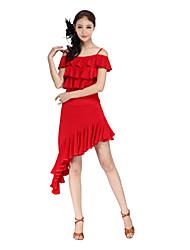 baratos -Dança Latina Saia Mulheres Treino Viscose / Salão de Baile