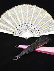 cheap -Double Layer Lace Hand Fan (More Colors) Wedding Favors Beautiful