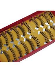 Недорогие -10 пар Pro Высокое качество ручной работы синтетического волокна волос Mix другом стиле Накладные ресницы