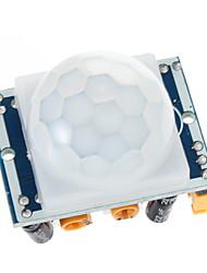 Недорогие -HC-SR501 Отрегулируйте пироэлектрический инфракрасный PIR движения модуль детектора ИК-датчик