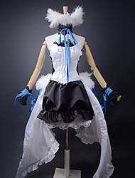 billiga -Inspirerad av Vocaloid Hatsune Miku Video Spel Cosplay-kostymer cosplay Suits / Klänningar Lappverk Klänning / Armband / Dekorativa Halsband Halloweenkostymer