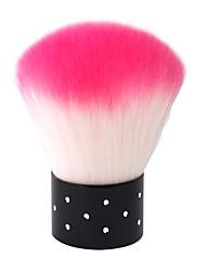 1PCS Pro Make Up strass Blush Powder Brush trucco viso Nail Art attrezzo cosmetico rosa