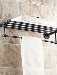 """Недорогие -Держатель для полотенец / Полка для ванной Тосканская бронза Крепление на стену 630x 265 x 66mm (24.8 x10.43x 2.59"""") Медь Традиционный"""