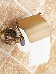 Porte Papier Toilette / Laiton Antique Traditionnel