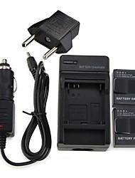 Charger / batteri For Gopro Hero 3 / Gopro Hero 3+ metal / Plastik Sort
