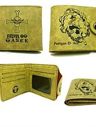 Bolsa / Carteiras Inspirado por One Piece Portgas D. Ace Anime Acessórios de Cosplay Carteira Amarelo Pele / Pele PU Masculino