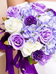 economico -Bouquet sposa Bouquet Matrimonio Seta 30 cm ca.