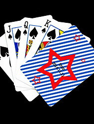 cheap -Personalized Gift Star Pattern Playing Card for Poker