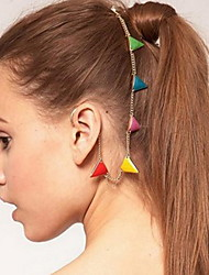 cheap -Ethnic Multicolor Triangle Shape Gold Alloy Hair Combs For Women(Multicolor,Gold)(1 Pc)