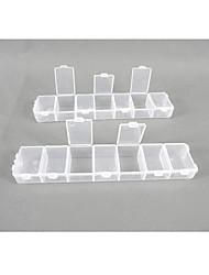 Caixa de plástico transparente de armazenamento 14 Compartimentos