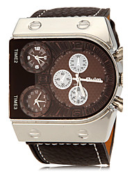 cheap -Men's Military Watch PU Band Brown / Two Years / SOXEY SR626SW