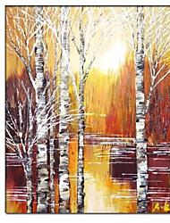economico -Dipinte a mano pittura di paesaggio con telaio allungato pronta per essere appesa