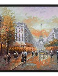 economico -Pittura di paesaggio Torre Eiffel olio con cornice