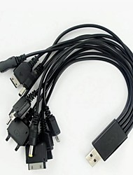 preiswerte -Ten in One Mobile-USB-Ladekabel Drag Zehn Computer-USB-Kabel