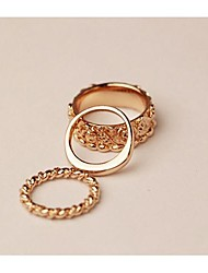 cheap -Hollywood loved Rose triad Knuckle Ring Set 3pcs/set